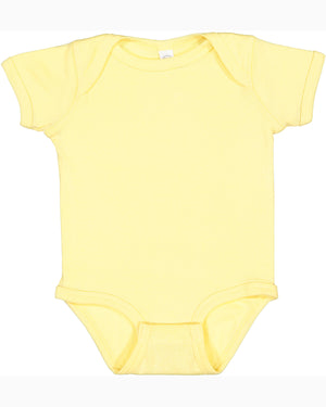 Rabbit Skins Infant Baby Rib Bodysuit - BANANA - RS4400 - Ends Monday Overnight - Ready To Ship Friday