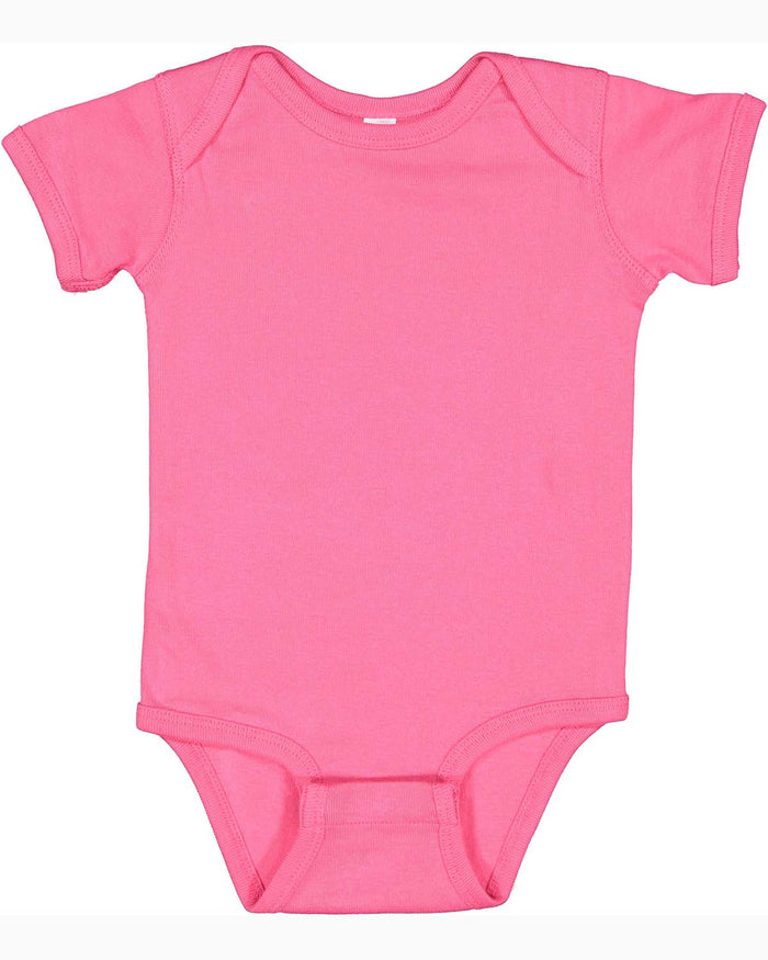 Rabbit Skins Infant Baby Rib Bodysuit - HOT PINK - ENDS Monday overnight - Ready to ship Friday