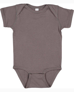 Rabbit Skins Infant Baby Rib Bodysuit - CHARCOAL - ENDS Monday overnight - Ready to ship Friday
