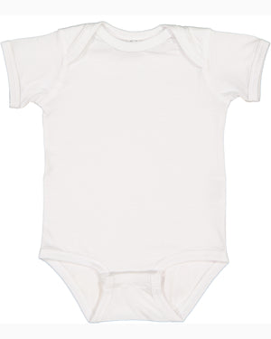 Rabbit Skins Fine Jersey Bodysuit - 4424 - WHITE - Ends Monday Overnight - Ready to ship Friday