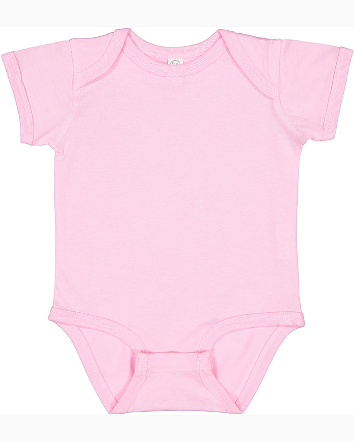 Rabbit Skins Fine Jersey Bodysuit - 4424 - LIGHT PINK - Ends Monday Overnight - Ready to ship Friday