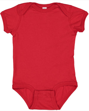Rabbit Skins Fine Jersey Bodysuit - 4424 - RED - Ends Monday Overnight - Ready to ship Friday