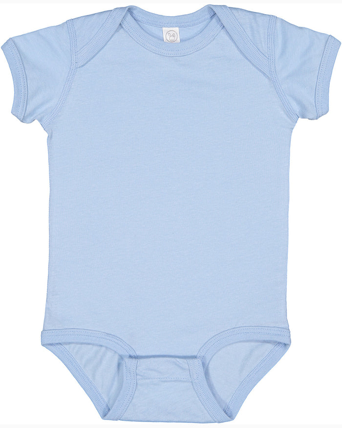 Rabbit Skins Fine Jersey Bodysuit - 4424 - LIGHT BLUE - Ends Monday Overnight - Ready to ship Friday
