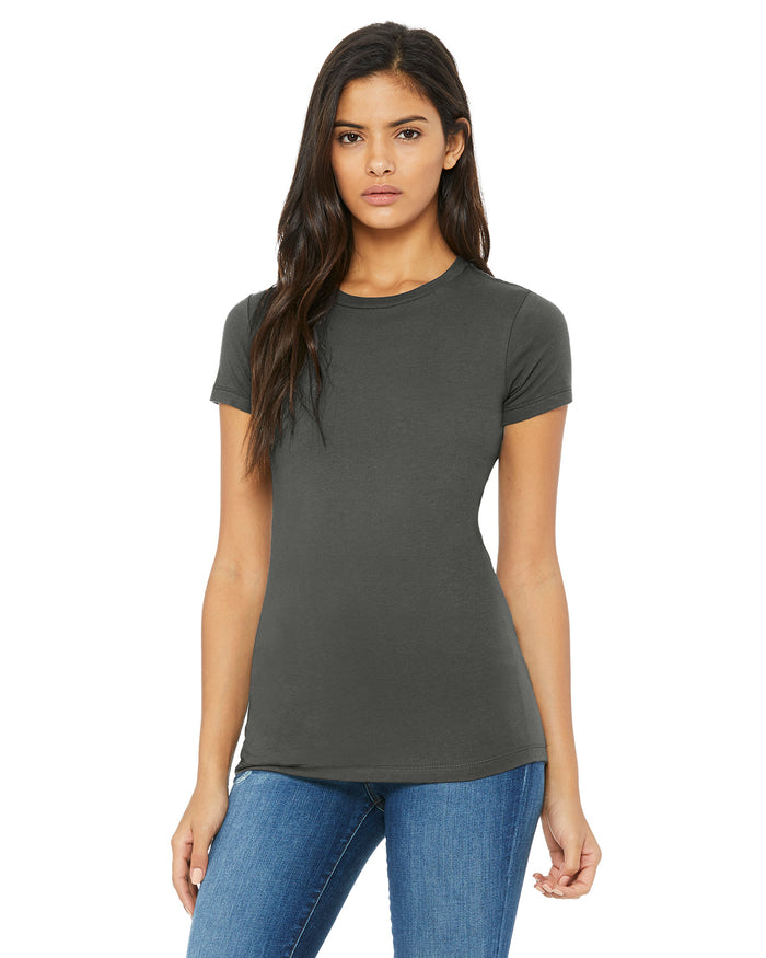 Bella + Canvas Slim Fit T-Shirt B6004 - ASPHALT - ENDS Monday overnight - Ready to ship Friday