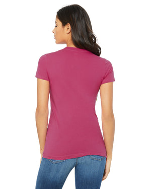 Bella + Canvas Slim Fit T-Shirt B6004 - BERRY - ENDS Monday overnight - Ready to ship Friday