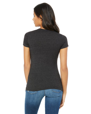 Bella + Canvas Slim Fit T-Shirt B6004 - DRK GREY HEATHER - ENDS Monday overnight - Ready to ship Friday