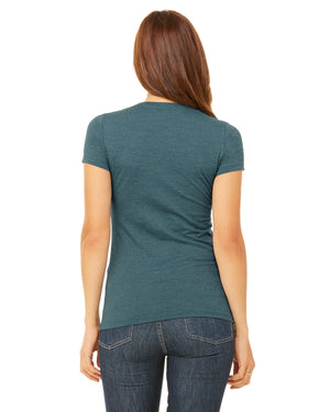 Bella + Canvas Slim Fit T-Shirt B6004 - HEATHER DEEP TEAL - ENDS Monday overnight - Ready to ship Friday