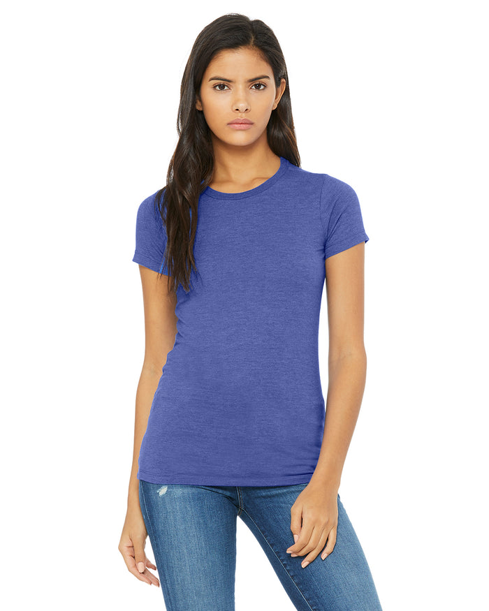 Bella + Canvas Slim Fit T-Shirt B6004 - HEATHER TRUE ROYAL- ENDS Monday overnight - Ready to ship Friday