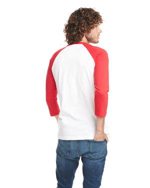 Next Level Unisex Raglan - 6251 - RED/WHITE - ENDS Monday night - Ready to ship Friday