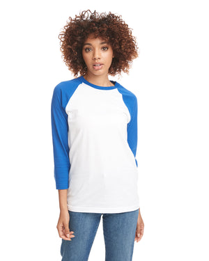Next Level Unisex Raglan - 6251 - ROYAL/WHITE - ENDS Monday night - Ready to ship Friday