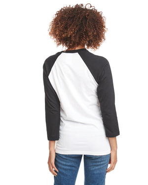 Next Level Unisex Raglan - 6251 BLACK/WHITE - ENDS Monday night - Ready to ship Friday