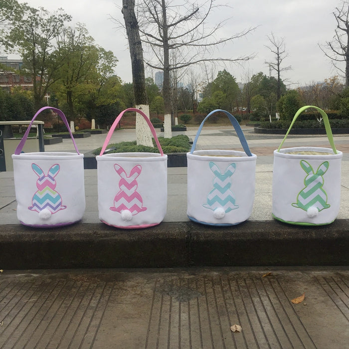 Easter Chevron Bunny Bucket - Extras - Ready to ship late March