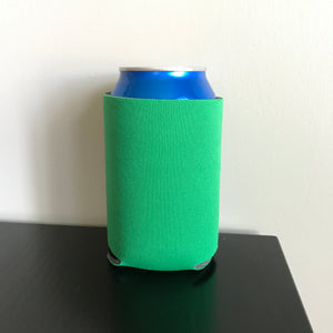 12oz can koozies - kelly green