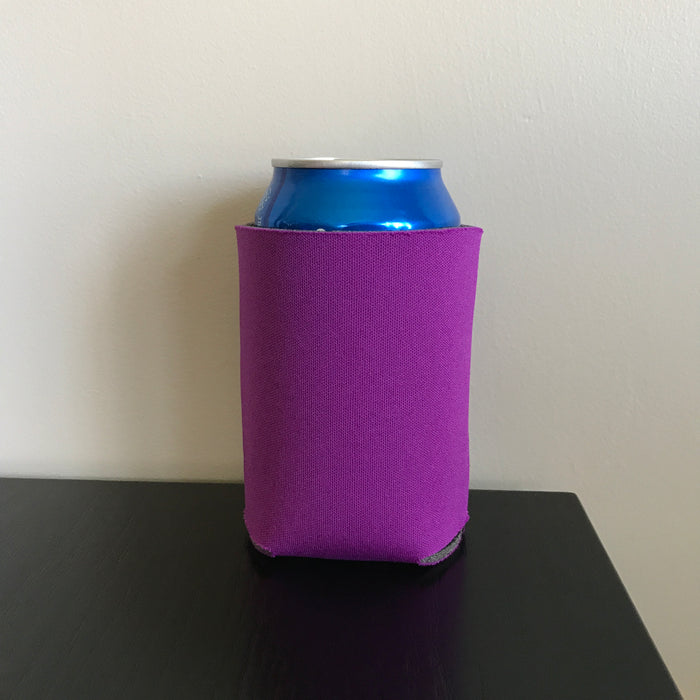 12oz can koozies - purple