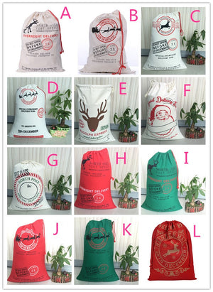 Santa Sacks - many styles - ENDS SEPT 20 - READY TO SHIP EARLY NOV