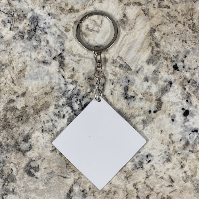 Sublimation Key Chain - Metal - Square