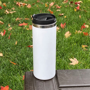 14oz skinny steel with closable lid for sublimation