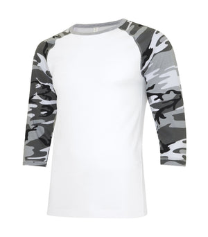ATC Eurospun Ring Spun Baseball Tee - ATC0822 -  White/Grey Camo - Ends Monday Overnight - Ready to ship Friday