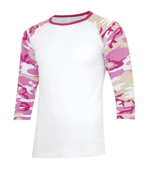 ATC Eurospun Ring Spun Baseball Tee - ATC0822 -  White/Pink Camo - Ends Monday Overnight - Ready to ship Friday