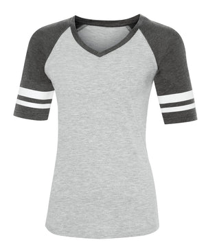 ATC EUROSPUN BASEBALL LADIES' TEE - ATC0822L - Athletic Grey/Charcoal Heather - Ends Monday Overnight - Ready to ship Friday