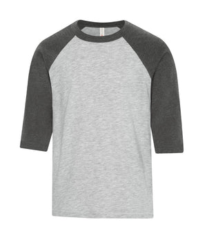 ATC EUROSPUN BASEBALL YOUTH TEE - ATC0822Y - Athletic Grey/Charcoal Heather - Ends Monday Overnight - Ready to ship Friday