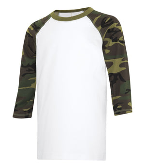 ATC EUROSPUN BASEBALL YOUTH TEE - ATC0822Y - White/Camo- Ends Monday Overnight - Ready to ship Friday