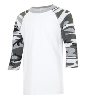 ATC EUROSPUN BASEBALL YOUTH TEE - ATC0822Y - White/Grey Camo - Ends Monday Overnight - Ready to ship Friday