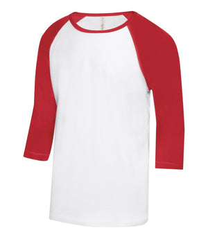 ATC EUROSPUN BASEBALL YOUTH TEE - ATC0822Y - White/True Red - Ends Monday Overnight - Ready to ship Friday