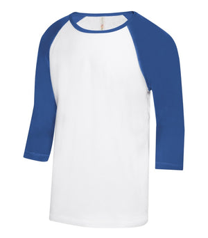 ATC EUROSPUN BASEBALL YOUTH TEE - ATC0822Y - White/True Royal - Ends Monday Overnight - Ready to ship Friday