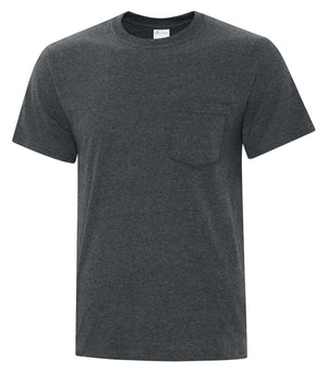 ATC EVERYDAY COTTON POCKET TEE - ATC1000P - Dark Heather Grey - ENDS MONDAY OVERNIGHT - READY TO SHIP FRIDAY