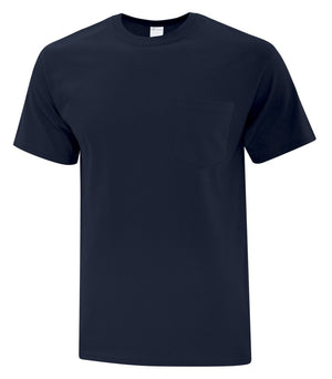 ATC EVERYDAY COTTON POCKET TEE - ATC1000P - Dark Navy - ENDS MONDAY OVERNIGHT - READY TO SHIP FRIDAY