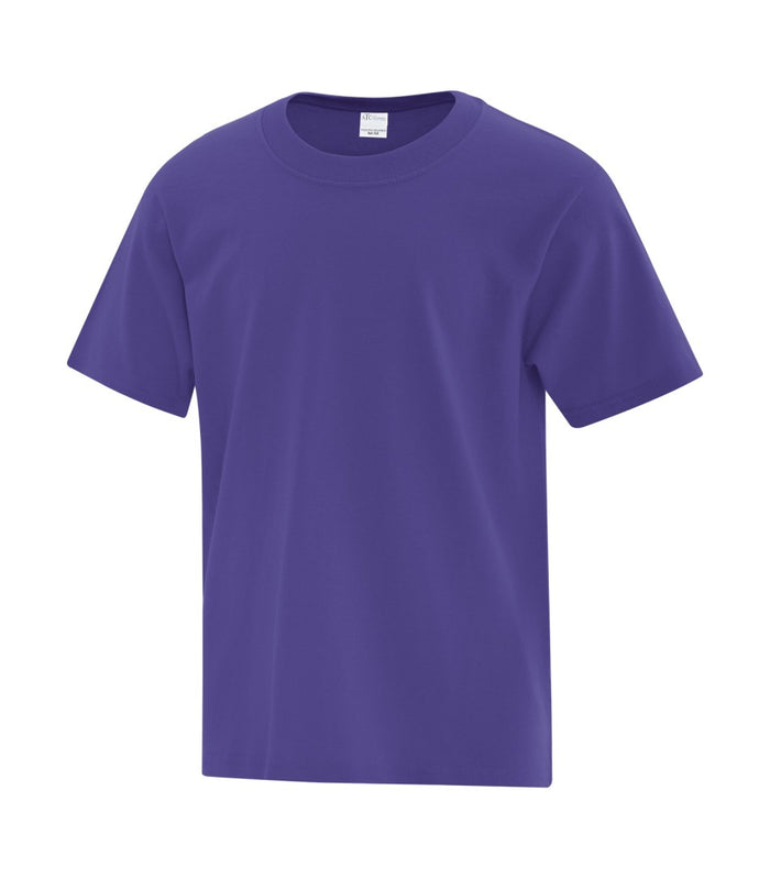 ATC EVERYDAY COTTON YOUTH TEE - ATC1000Y - Purple - ENDS MONDAY OVERNIGHT - READY TO SHIP FRIDAY