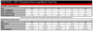 ATC Everyday Cotton Long Sleeve Youth Tee - ATC1015Y - Sangria - ENDS MONDAY OVERNIGHT - READY TO SHIP FRIDAY