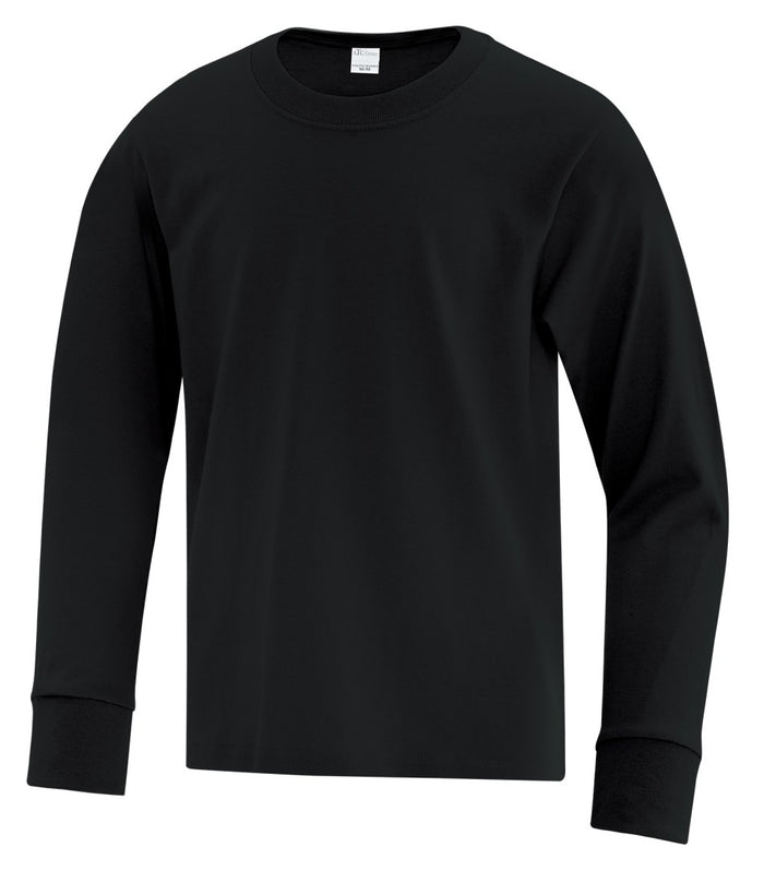 ATC Everyday Cotton Long Sleeve Youth Tee - ATC1015Y - Black - ENDS MONDAY OVERNIGHT - READY TO SHIP FRIDAY