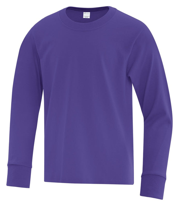 ATC Everyday Cotton Long Sleeve Youth Tee - ATC1015Y - Purple - ENDS MONDAY OVERNIGHT - READY TO SHIP FRIDAY