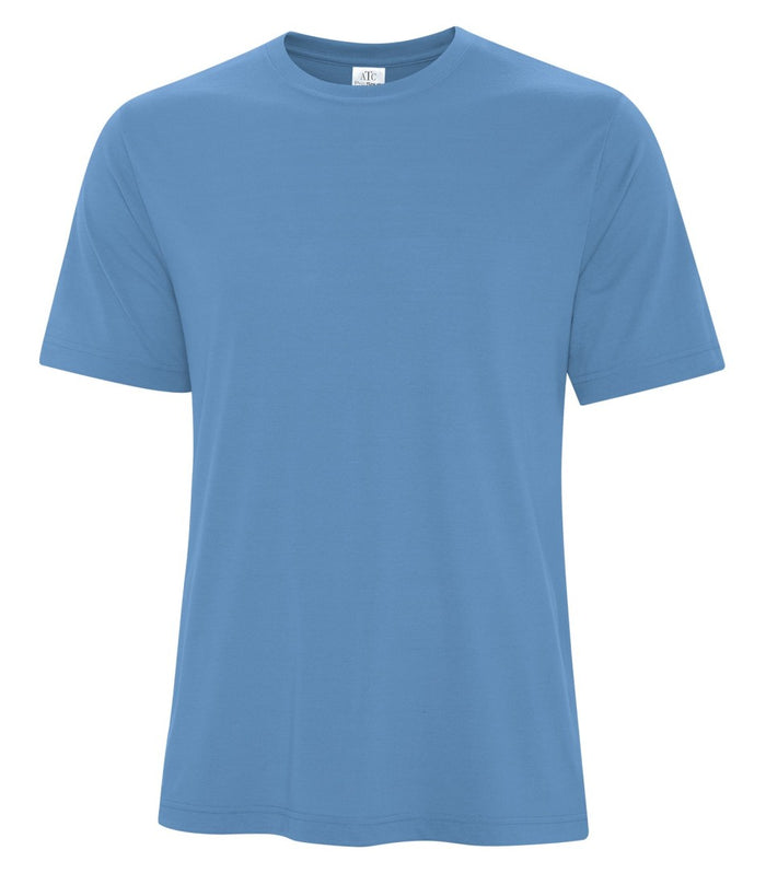 ATC PRO SPUN TEE - ATC3600 - CAROLINA BLUE - ENDS MONDAY OVERNIGHT - READY TO SHIP FRIDAY