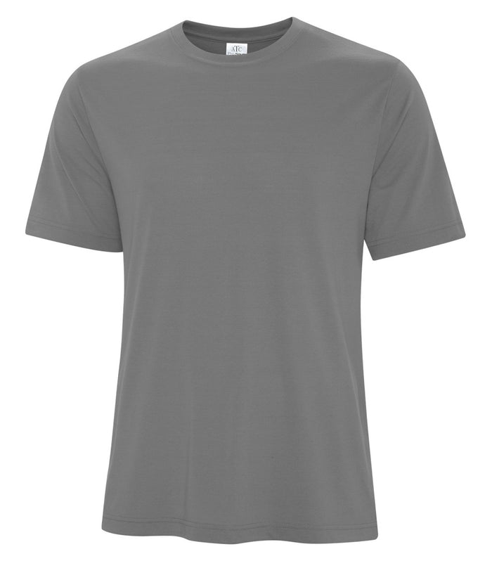 ATC PRO SPUN TEE - ATC3600 - COAL GREY - ENDS MONDAY OVERNIGHT - READY TO SHIP FRIDAY