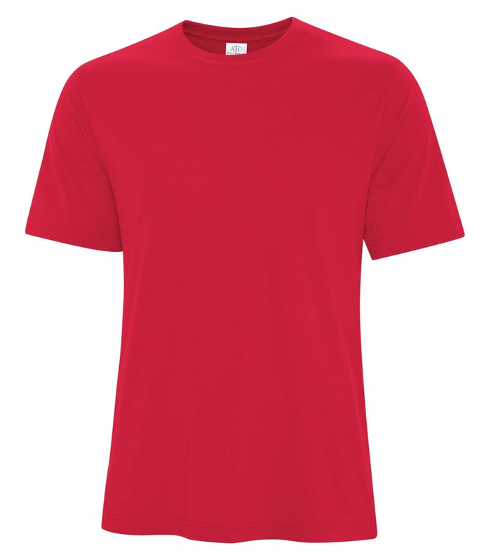 ATC PRO SPUN TEE - ATC3600 - TRUE RED - ENDS MONDAY OVERNIGHT - READY TO SHIP FRIDAY