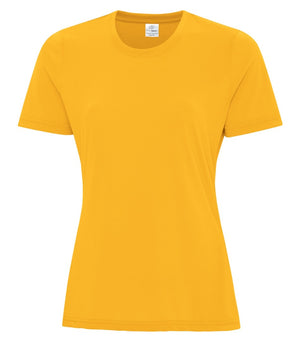 ATC PRO SPUN LADIES TEE - ATC3600L - GOLD - ENDS MONDAY OVERNIGHT - READY TO SHIP FRIDAY