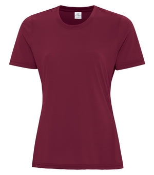 ATC PRO SPUN LADIES TEE - ATC3600L - MAROON - ENDS MONDAY OVERNIGHT - READY TO SHIP FRIDAY