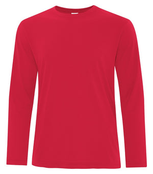 ATC PRO SPUN LONG SLEEVE TEE - ATC3615 - TRUE RED - ENDS MONDAY OVERNIGHT - READY TO SHIP FRIDAY