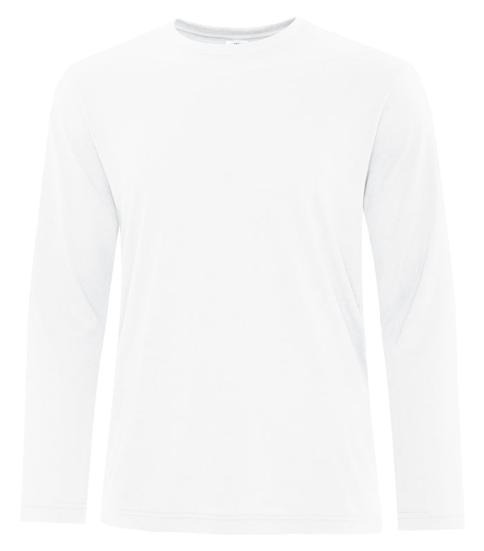 ATC PRO SPUN LONG SLEEVE TEE - ATC3615 - WHITE - ENDS MONDAY OVERNIGHT - READY TO SHIP FRIDAY