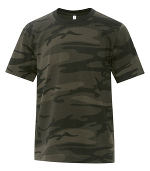 ATC EUROSPUN BASEBALL YOUTH TEE - ATC0822Y - Athletic Grey/Black Camo - Ends Monday Overnight - Ready to ship Friday