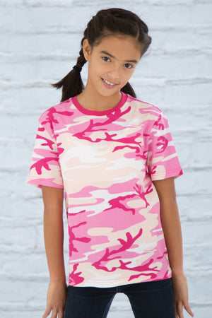 ATC EuroSpun Youth Tee - ATC8000Y - Pink Camo - Ends Monday Overnight - Ready to ship Friday