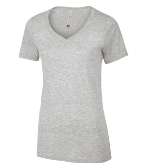 EUROSPUN RINGSPUN LADIES V-NECK - ATC8001L - Athletic Grey - Ends Monday Overnight - Ready to ship Friday