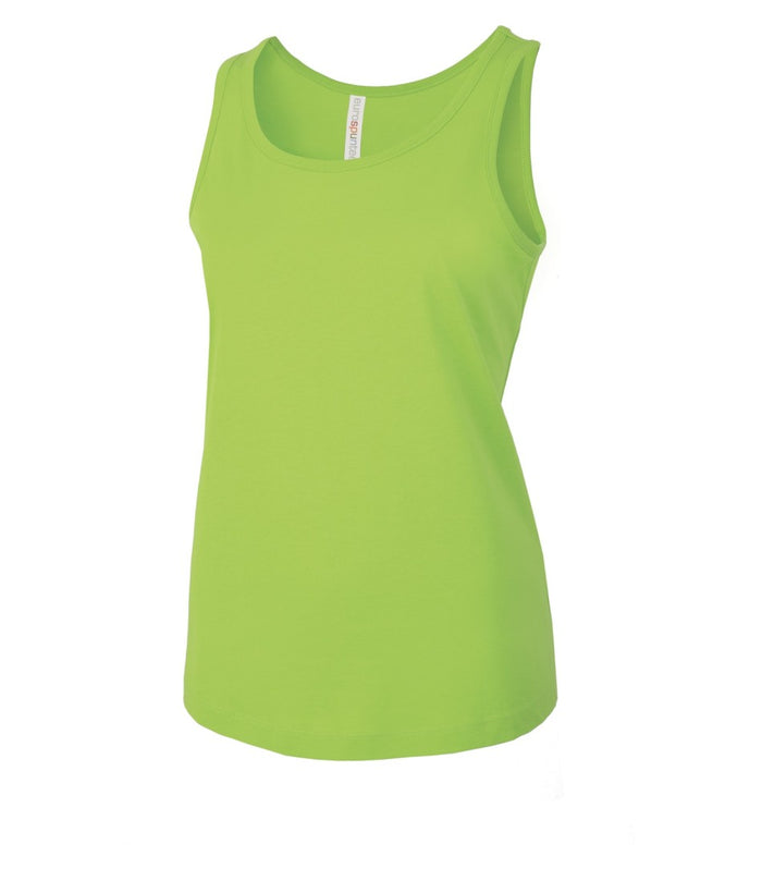 ATC Eurospun Ring Spun Ladies Tank - ATC8004L -  Lime Shock - Ends Monday Overnight - Ready to ship Friday