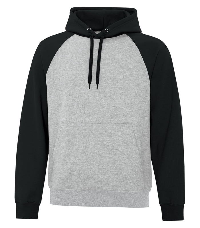 ATC TWO TONE HOODIE ATCF25500 - black/heather grey - Ends Monday overnight - Ready to Ship Friday