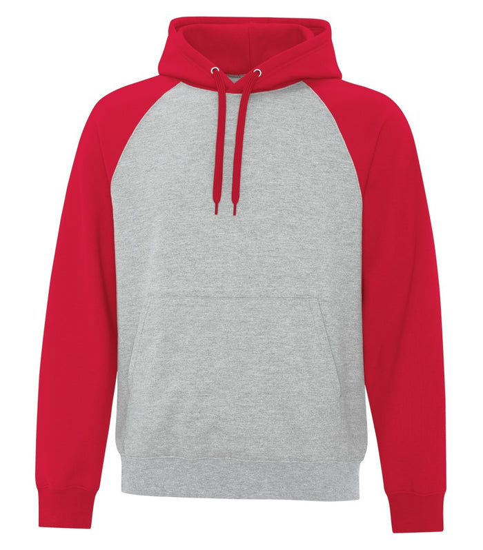 ATC TWO TONE HOODIE ATCF25500 - red/heather grey - Ends Monday overnight - Ready to Ship Friday
