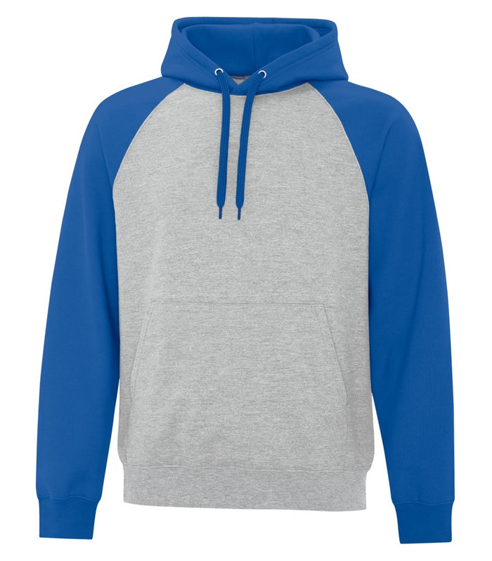 ATC TWO TONE HOODIE ATCF25500 - royal blue/heather grey - Ends Monday overnight - Ready to Ship Friday