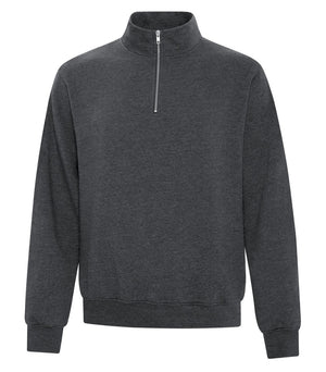 ATC EVERYDAY FLEECE 1/4 ZIP SWEATER - ATCF2700 - Dark Heather - Ends Monday overnight - Ready to Ship Friday